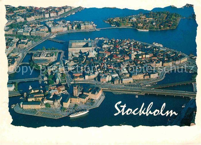 Stockholm Fliegeraufnahme Kat. Stockholm
