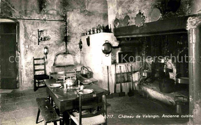 Valangin Ancienne cuisine Chateau Kat. Valangin Nr. kv73330 ...