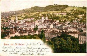 St Gallen SG Blick ueber die Stadt Kat. St Gallen