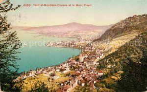 Territet Montreux Clarens et le Mont Fleuri Lac Leman Genfer See Kat. Montreux