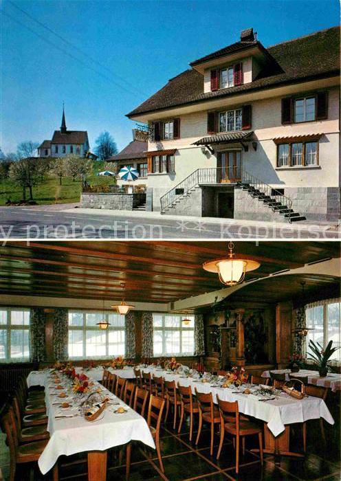 Neudorf Sursee Landgasthof Kreuz Gormund Restaurant Kirche Kat. Neudorf