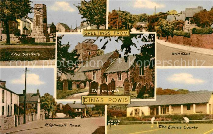 Dinas Powys Square Highwalls Road Tennis Courts Mill Road Church Kat. The Vale of Glamorgan