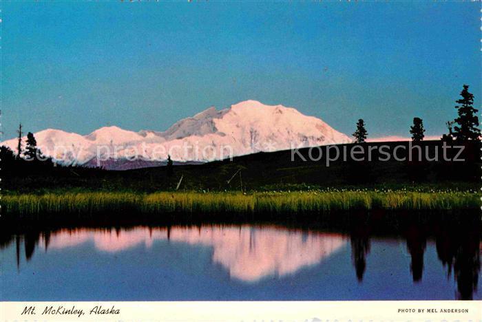Mount McKinley Alaska reflected in Nugget Lake Kat.