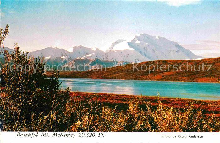 Mount McKinley Alaska Wonder Lake in Autumn Kat.