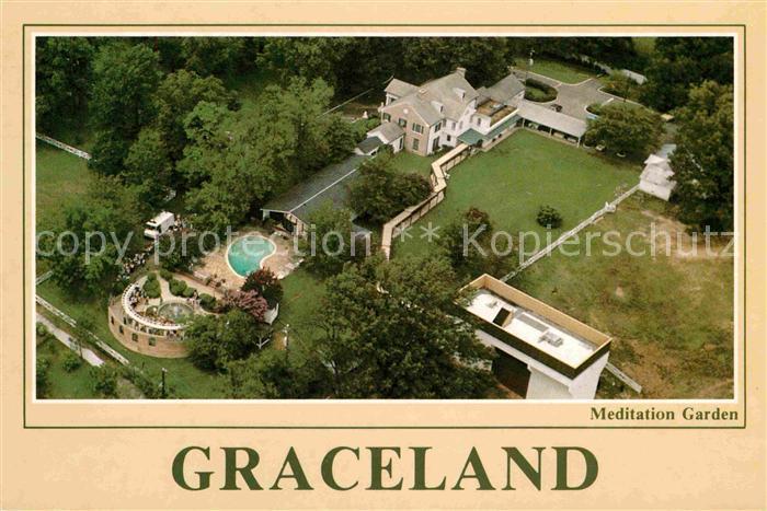Memphis Tennessee Graceland Fliegeraufnahme Home Of Elvis Presley