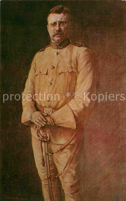 Politiker Theodore Roosevelt Portrait of The Rough Rider Kat. Politik