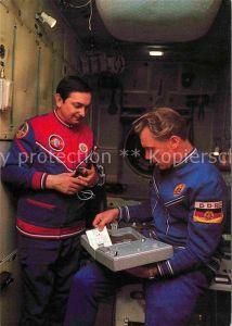 Raumfahrt Kosmonauten Waleri Bykowski Sigmnd Jaehn  Kat. Flug