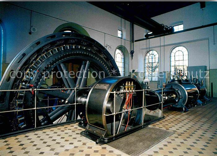 Maschinen Tandemverbund Dampfmaschine Schwungradgenerator Von 1904