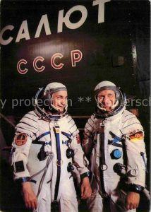 Raumfahrt Kosmonauten Waleri Bykowski Sigmund Jaehn  Kat. Flug