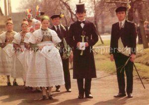 Hochzeit Sorbische Hochzeit Schwarzkollm Hoyerswerda  Kat. Greetings