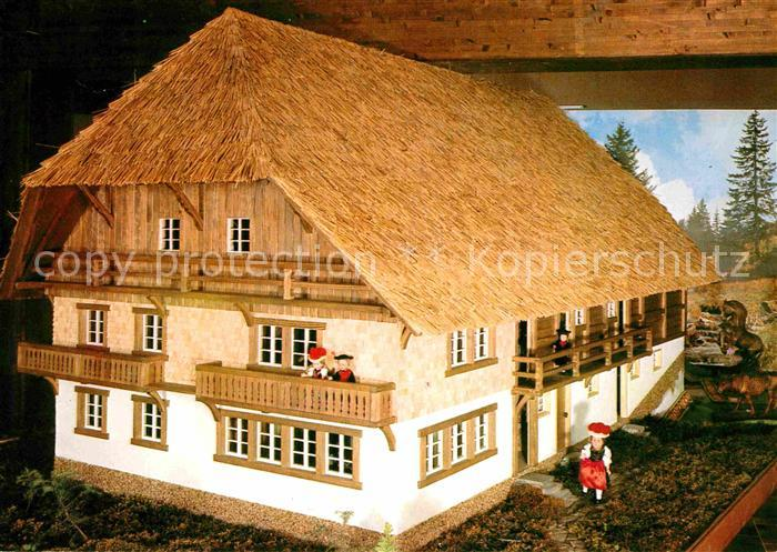 Modellbau Schwarzwaldbauernhof mit Muehle Titisee  Kat. Spielzeug