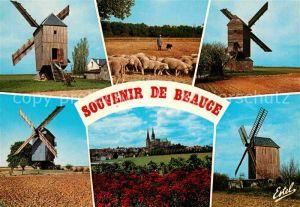 Windmuehle Beauce Moulin de Ouarville Levesville la Chenard  Kat. Gebaeude und Architektur