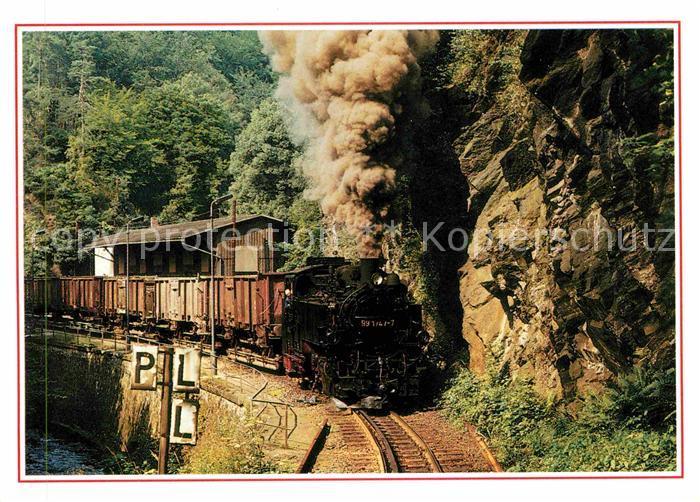 Lokomotive Bahnhof Rabenau Kat. Eisenbahn