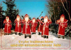 Weihnachtsmann Nikolaus Burkhardtsdorf Weihnachten  Kat. Greetings