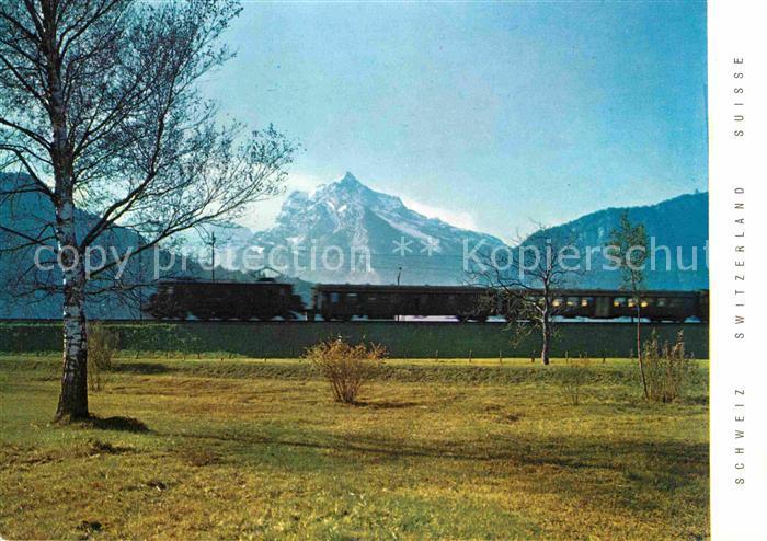 Eisenbahn Bundesbahn Schweiz Linie Zuerich Chur Weesen  Kat. Eisenbahn