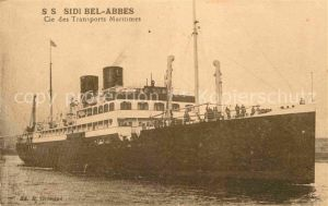 Dampfer Oceanliner SS Sidi Bel Abbes  Kat. Schiffe