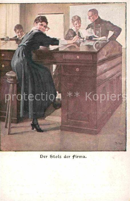 Kuenstlerkarte Der Stolz der Firma Wennerberg Karte Verlag der Luftigen Blaetter  Kat. Kuenstlerkarte