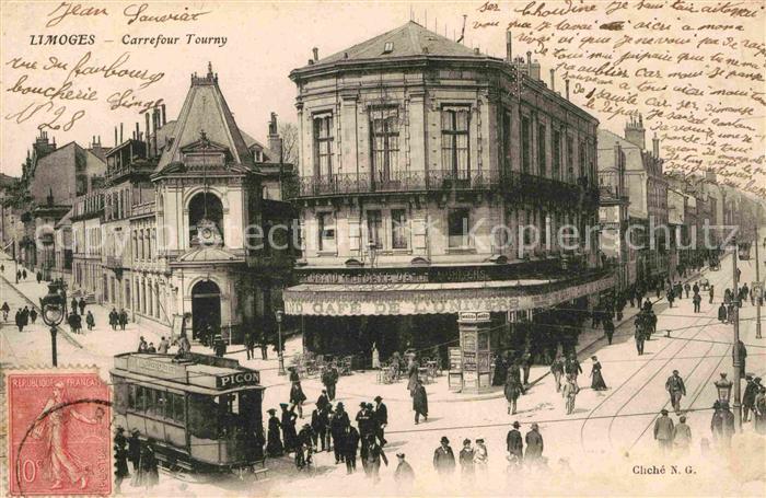 Strassenbahn Limoges Carrefour Tourny  Kat. Strassenbahn