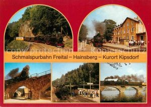 Lokomotive Schmalspurbahn Freital Hainsberg Kipsdorf  Kat. Eisenbahn