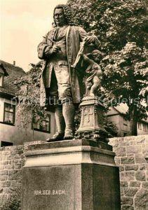 Bach Johann Sebastian Denkmal Eisenach Kat. Komponist