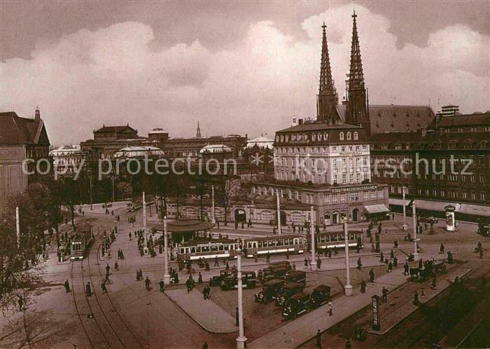 Strassenbahn Dresden Postplatz 1920er Jahre  Kat. Strassenbahn
