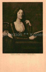 Schiller Friedrich Charlotte von Schiller  Kat. Dichter