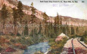 South Dakota US State Dark Canon along Crouch Railroad