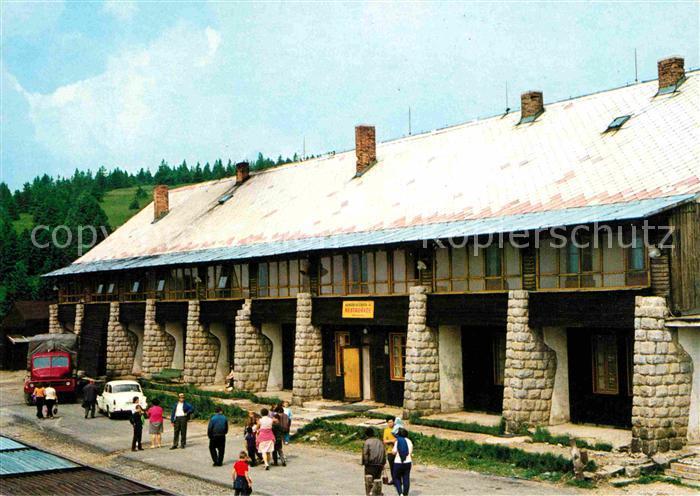 Jeseniky Gebirge Baude Kursovni chata am Fusse des Berges Praded