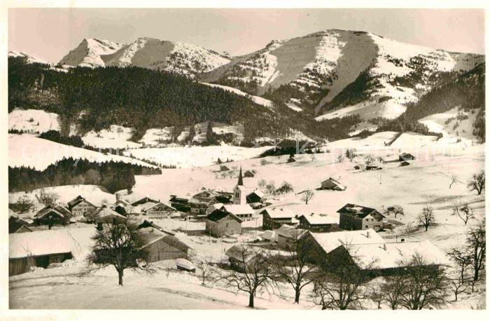 Steibis Alpengasthof Hochgrat Hochgrat Rindalphorn Winterpanorama Allgaeuer Alpen Kat. Oberstaufen