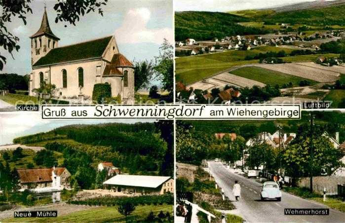 Schwenningdorf Kirche Neue Muehle Wehmerhorst Fliegeraufnahme Kat. Roedinghausen