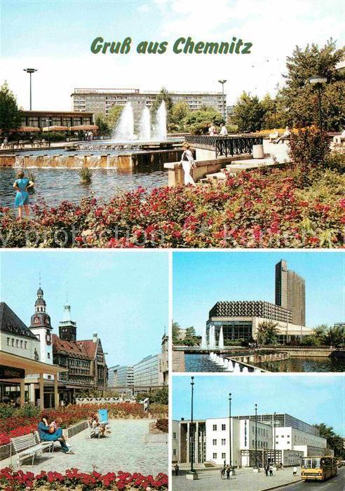 Chemnitz Karl Marx Platz Rosenhof Stadtbad Kat. Chemnitz