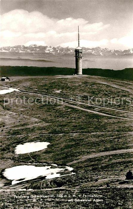 Feldberg Schwarzwald Fernsehturm mit Schweizer Alpen Kat. Feldberg (Schwarzwald)