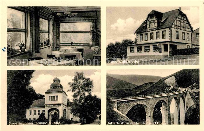 Emmelshausen Haus Waldfrieden Terrasse Sauerbrunnen Hubertusbruecke Kat. Emmelshausen