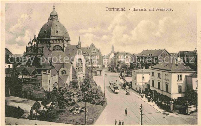 Dortmund Hansastrasse mit Synagoge Kat. Dortmund