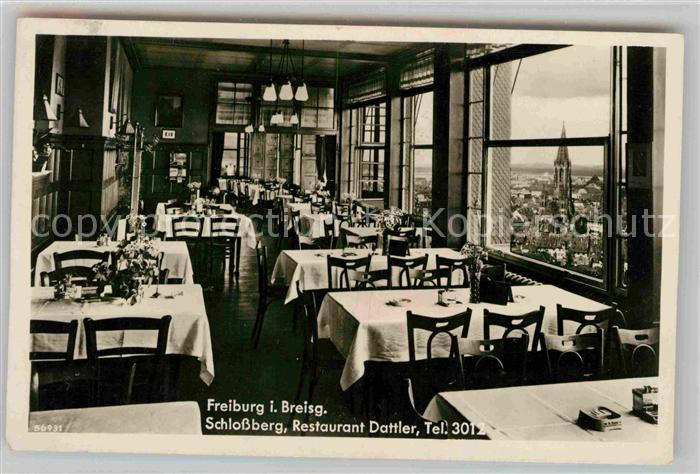 Freiburg Breisgau Schlossberg Restaurant Dattler Muenster Kat. Freiburg im Breisgau