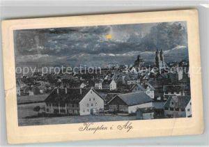 Kempten Allgaeu Mondschein Panorama Kirche Kat. Kempten (Allgaeu)