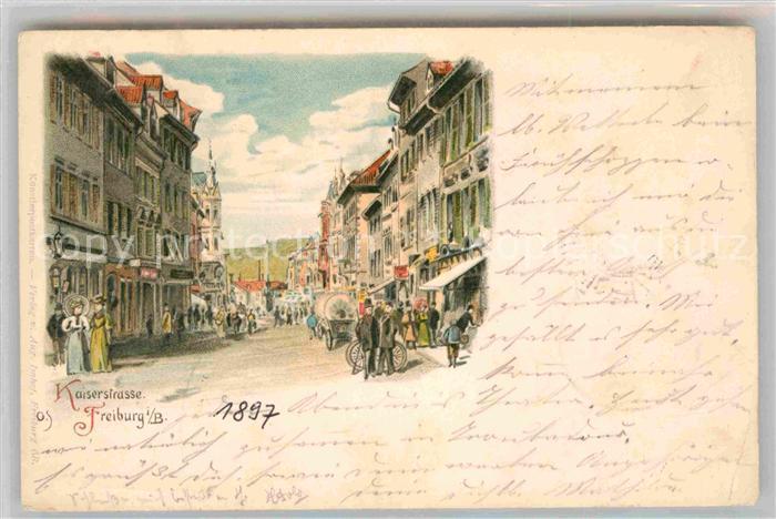 Freiburg Breisgau Kaiserstrasse  Kat. Freiburg im Breisgau