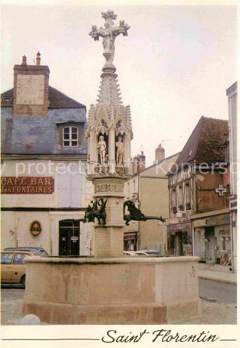 Saint Florentin Yonne Brunnen Kat. Saint Florentin