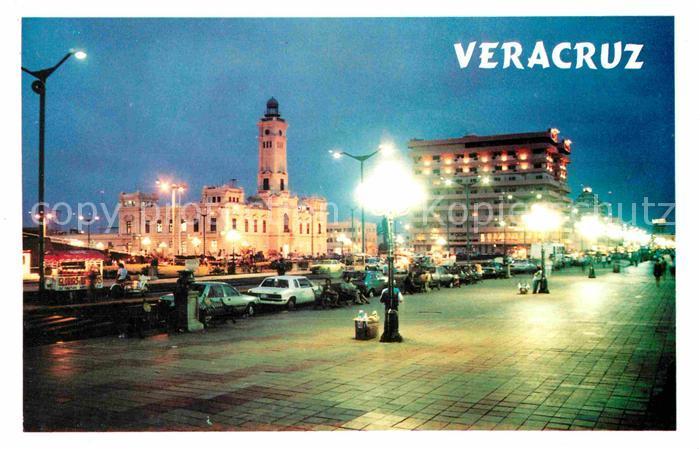 Veracruz Nachtansicht Kirche Kat. Veracruz