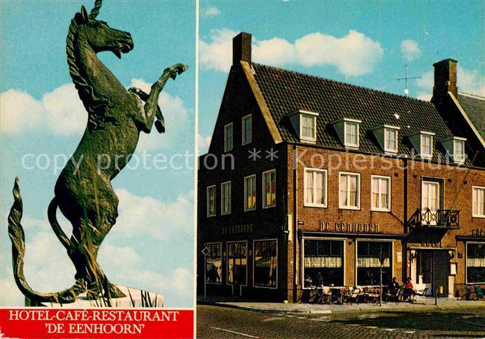 Oostburg Hotel Cafe Restaurant De Eenhoorn Kat. Oostburg