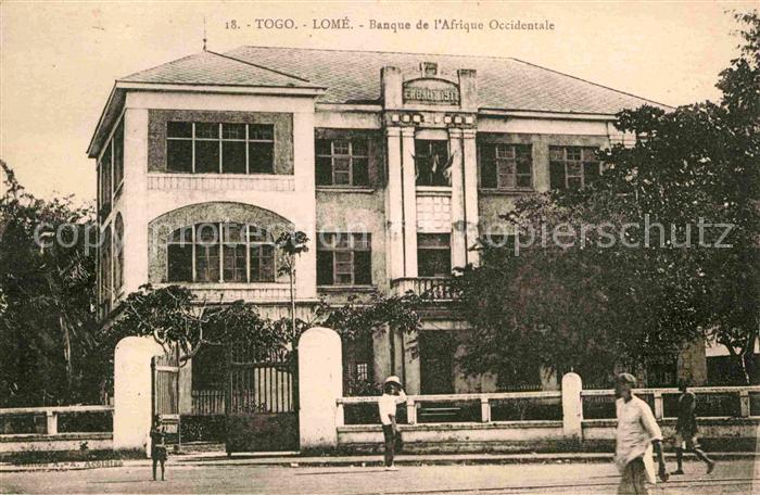 Lome Banque de l`Afrique Occidentale Kat. Lome