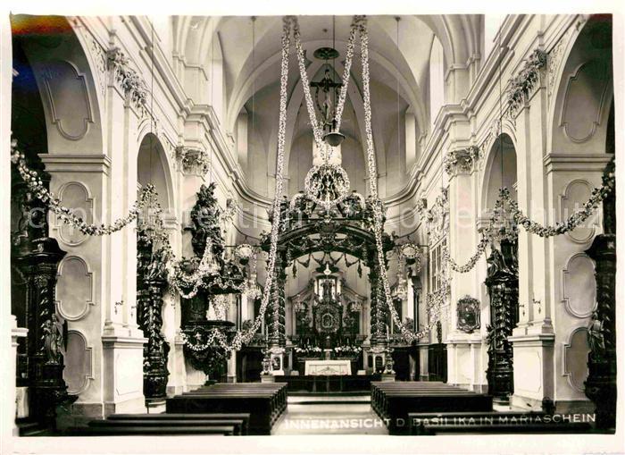 Mariaschein Tschechien Basilika Innenansicht Kat. Bohosudov