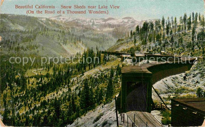 California US State Snow Sheds near Lake View