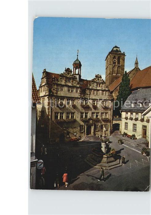 Bad Hersfeld Rathaus Stadtkirche Brunnen Kat. Bad Hersfeld