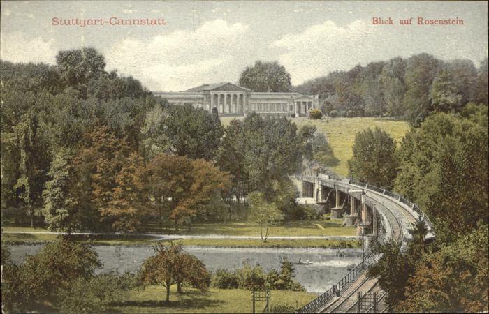 Cannstatt Blick auf Rosenstein und Neckar Kat. Stuttgart