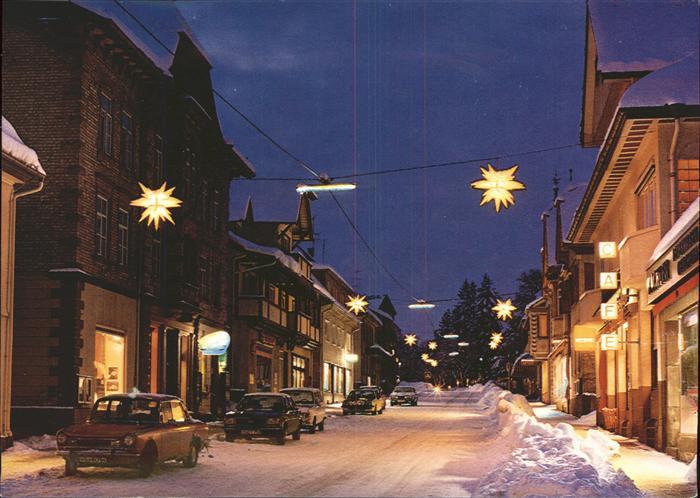 Koenigsfeld Schwarzwald Winternacht Schnee Sterne / Koenigsfeld im Schwarzwald /Schwarzwald-Baar-Kreis LKR