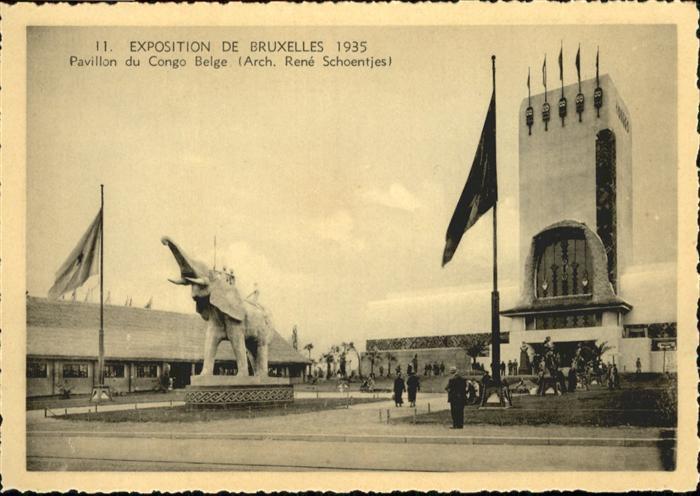 AK / Ansichtskarte Events Exposition de Bruxelles Pavillon du Congo Belge / Events /
