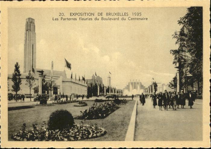 AK / Ansichtskarte Events Exposition de Bruxelles Boulevard du Centenaire / Events /