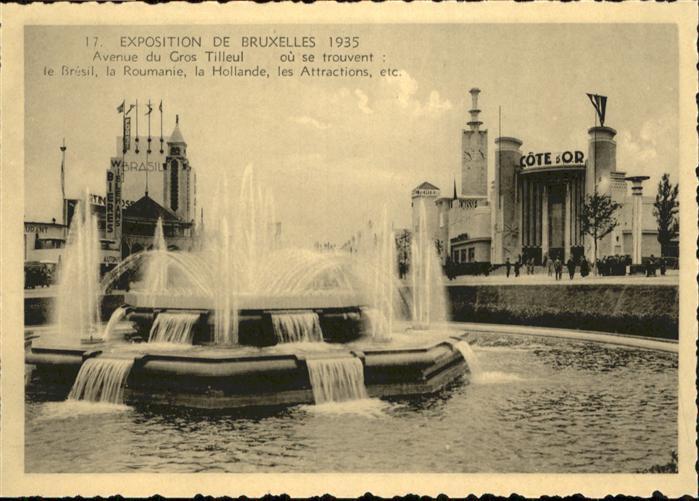 AK / Ansichtskarte Events Exposition de Bruxelles Avenue du Gros Tilleul / Events /