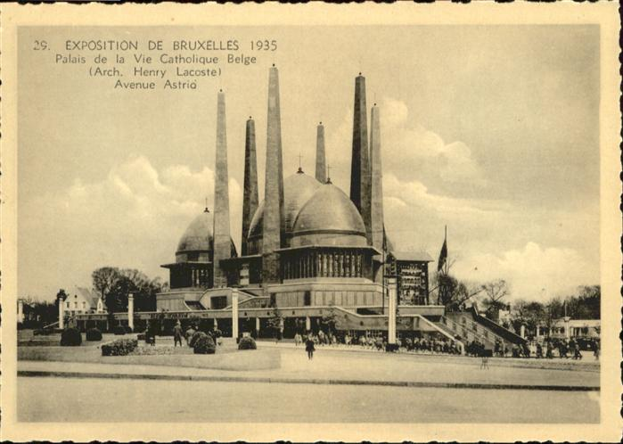 AK / Ansichtskarte Events Exposition de Bruxelles Palais de la Vie Catholique Belge Avenue Astria / Events /